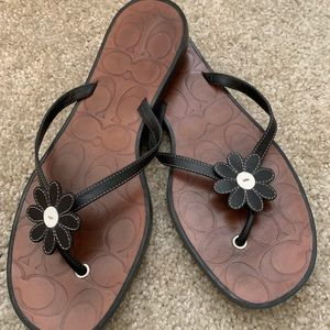 Worn once - Coach sandals